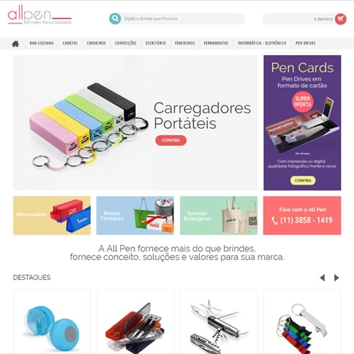 AllPen Brindes Promocionais - Home Marketing - Site de Brindes em SP 20492eecd02