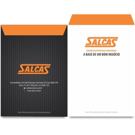 Envelope Saco para Salcas Industria - Feito por Home Marketing